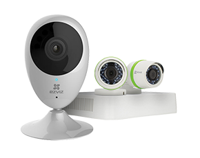 Keep an eye on your home with smart home cameras and wired kits from EZVIZ