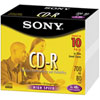 Paquet de 10 CDR de 80 minutes de Sony, avec boîtiers minces
