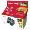 Cartouches d'encre noire/couleur PG-40/CL-41 de Canon (0615B010) - Paquet de 2