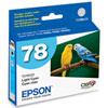 Cartouche d'encre cyan clair 78 d'Epson (T078520)