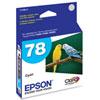 Cartouche d'encre cyan 78 d'Epson (T078220)
