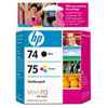 HP 74/75 Black/Tri-Colour Ink (CC659FC) - 2 Pack