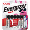 Energizer Max AAA 12-Pack Batteries (E92BP12)
