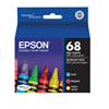 Epson 68 Colour Ink (T068520-S) - 3 Pack