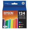 Cartouche d'encre couleur T124 d'Epson (T124520-S) - Paquet de 3