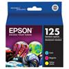 Cartouche d'encre couleur T125 d'Epson (T125520-S) - Paquet de 3