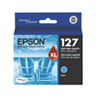 Epson T127 Cyan Extra High-Capacity Ink (T127220-S)