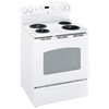 """GE 29.9"""" 5 Cu. Ft. Self-Clean Electric Coil Top Range (JCBP250DTWW) - White"""