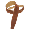 """Levy's 2.5"""" Suede Leather Guitar Strap (MS26-BRN) - Brown"""