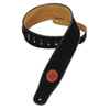 """Levy's 2.5"""" Signature Series Suede Guitar Strap (MSS3-BLK) - Black"""
