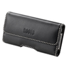 Roots Universal Horizontal Leather Holster - Black