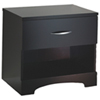 Step One Contemporary 1-Drawer Nightstand - Chocolate
