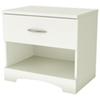 Step One Contemporary 1-Drawer Nightstand - White