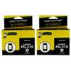 Cartouche d'encre noire pour Canon d'Ink For Dummies (DC-PG210 (2PK)) - Paquet de 2