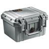 Étui 1300 pour appareil photo avec mousse de Pelican - Argenté