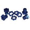 Traxxas 5353X 17mm Wheel Hubs/Nuts (1 Set) - Blue
