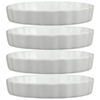 "Tannex White Tie 6"" Quiche Dish - Set of 4 - White"