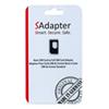 Adaptateur carte micro/nano SIM à SIM de SAdapter (SAdapter4FFTO2FFBLK)