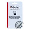 Adaptateur carte micro/nano SIM à SIM de SAdapter (SAdapter3FFTO2FFBLK)