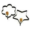 Anneaux à pancake/oeuf en forme d'étoile et de fleur de Norpro (984) - Noir - paquet de 2
