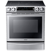 "Samsung 30"" 5.8 Cu. Ft. Slide-In 5-Element Self-Clean Smooth Top Electric Range - Stainless Steel"