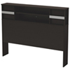 Step One Contemporary Bookcase Headboard - Queen - Brown