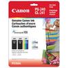 Canon Pixma PG-240/CL-241 Black/Colour Ink (5207B005) - 3 Pack