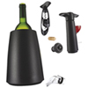 Vacu Vin 7-Piece Wine Set - Black