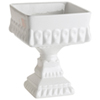 Plat de service sur pied en porcelaine Décor Bon Bon de Rosanna - Blanc