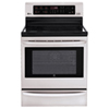 """LG 30"""" 6.3 Cu. Ft. Easy Clean Smooth Top Convection Range (LRE6385ST) - Stainless Steel"""