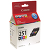 Canon Pixma CLI-251 CMYK Ink (6513B009) - 4 Pack