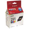 Cartouche d'encre CMJN CLI-251 Pixma de Canon (6513B009) - Paquet de 4