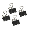 Acme United Sure-Grip Triangular Fold Back Binder Clips (ACM11215) - 12 Pack - Black