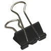Acme United Sure-Grip Triangular Fold Back Binder Clips (ACM11211) - 12 Pack - Black
