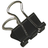 Acme United Sure-Grip Triangular Fold Back Binder Clip (ACM11210) - 12 Pack - Black