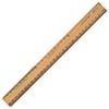 Règle ordinaire en bois à deux côtés biseautés d'Acme United (ACM16930)