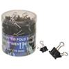 Acme United Foldback Clips (ACM74019) - 60 Pack - Black