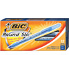 BIC Round Stic Ballpoint Pen (BICGSM11-BL) - 12 Pack - Blue
