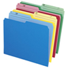 Esselte Cutless Top Tab File Folder (ESS48443C) - Letter - 24 Pack - Assorted