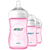 Philips AVENT Natural Flow 9 oz. Bottle - 3 Pack - Pink