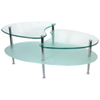 Mariner Glass Oval Coffee Table - Silver