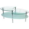 Table à café ovale en verre Mariner - Argenté