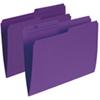 Esselte Single Top Verticle File Folder (ESSR415-VIO) - Letter - 100 Pack - Violet