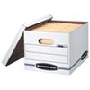 Fellowes Bankers Box Easy Lift File Storage Box (FEL0006301) - Letter - White/Blue