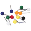 Gem Office Products Round Map Tacks (GEMMTA250) - 250 Pack - Assorted Colours