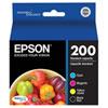 Epson DURABrite Ultra T200 CMYK Ink (T200120-BCS) - 4 Pack