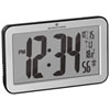 Marathon Atomic Digital Clock with Indoor Temperature Indicator (CL030033SV) - Silver