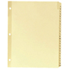 Sparco A-Z Clear Plastic Index Dividers (SPR01806) - Letter - 25 Pack