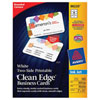 Avery Clean Edge Business Cards (AVE88220) - 160 Pack - White