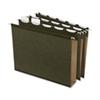 Dossier suspendu grande capacité à base plate d'Esselte (ESS42701) - Lettre - Paquet de 20 - Vert